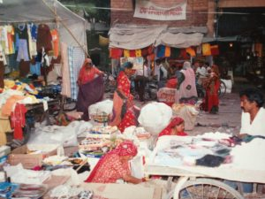A market in Jodhupur. Markets around the world are often predominantly run and frequented by women.