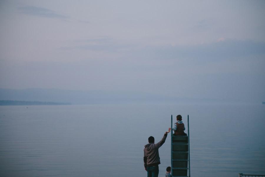 family-on-slide-lake-geneva