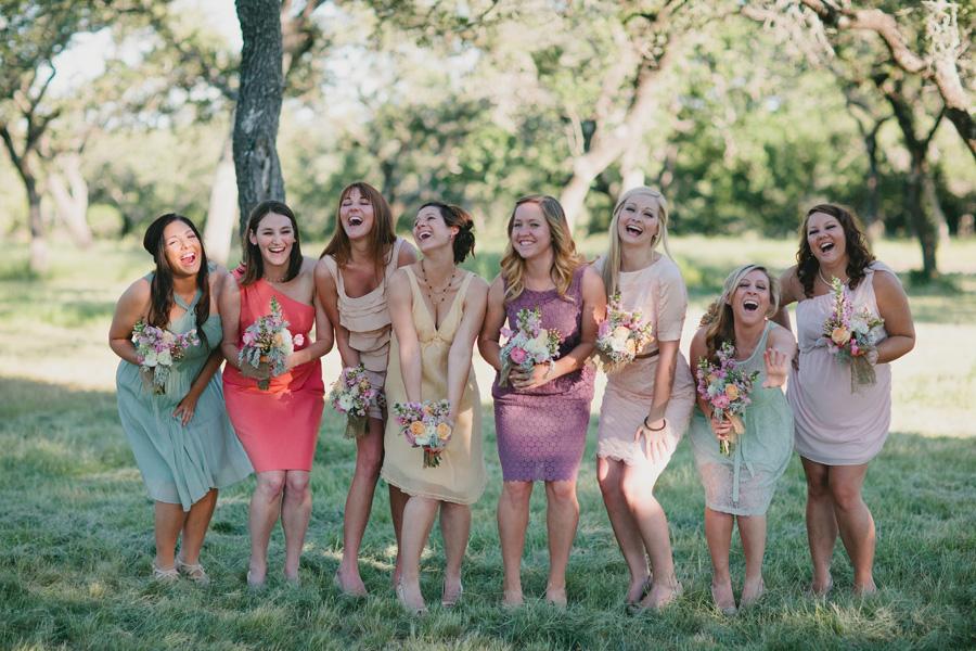 pastel-colored-bridesmaid-dresses