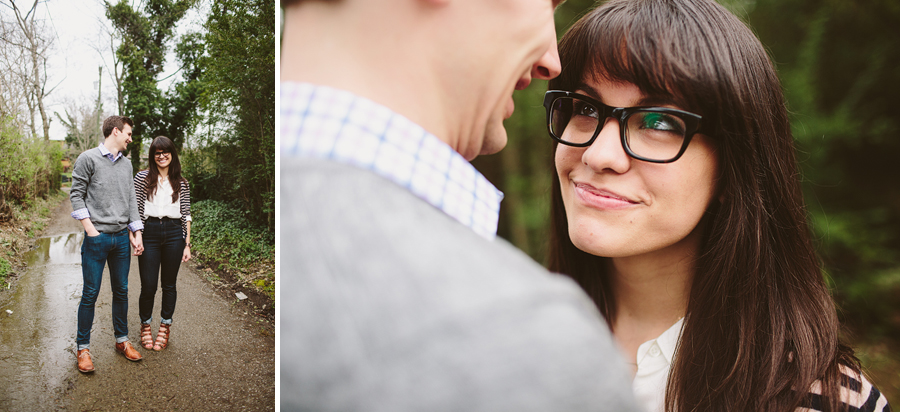 hipster couple engagement photos