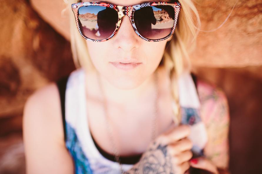 southwestern print sunglasses