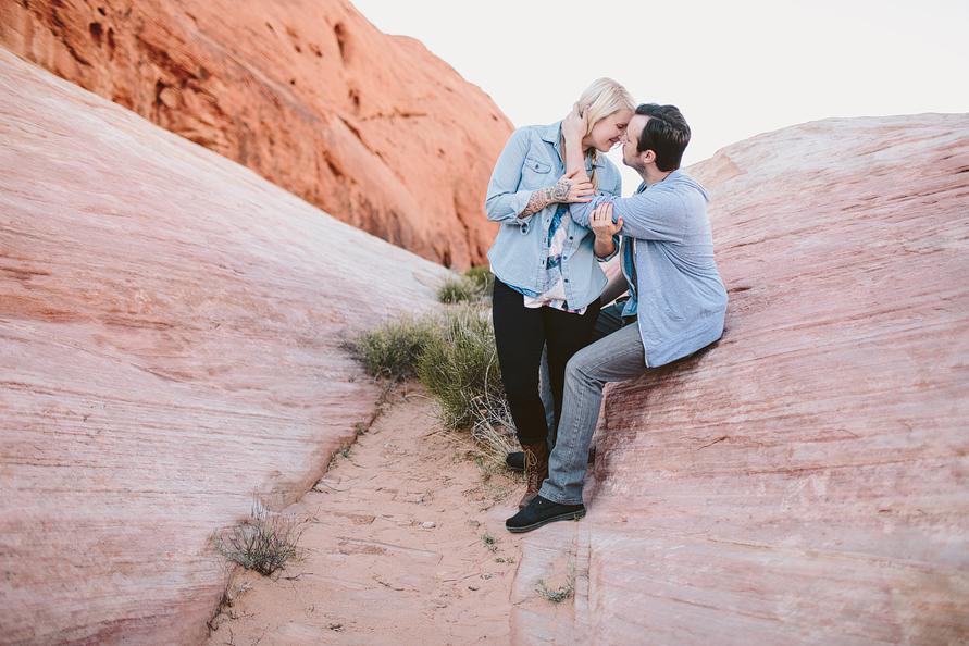 engagement in las vegas desert