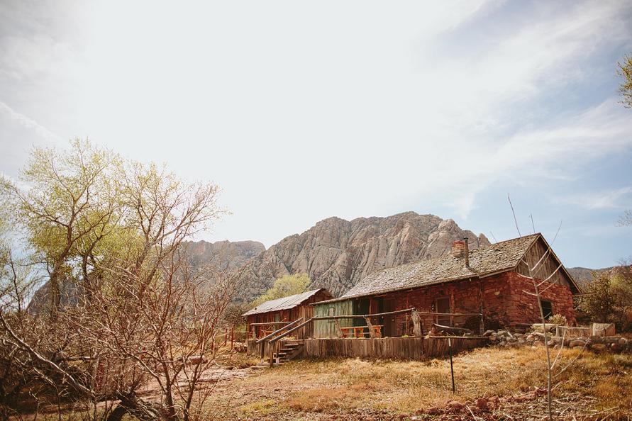 barn in the desert