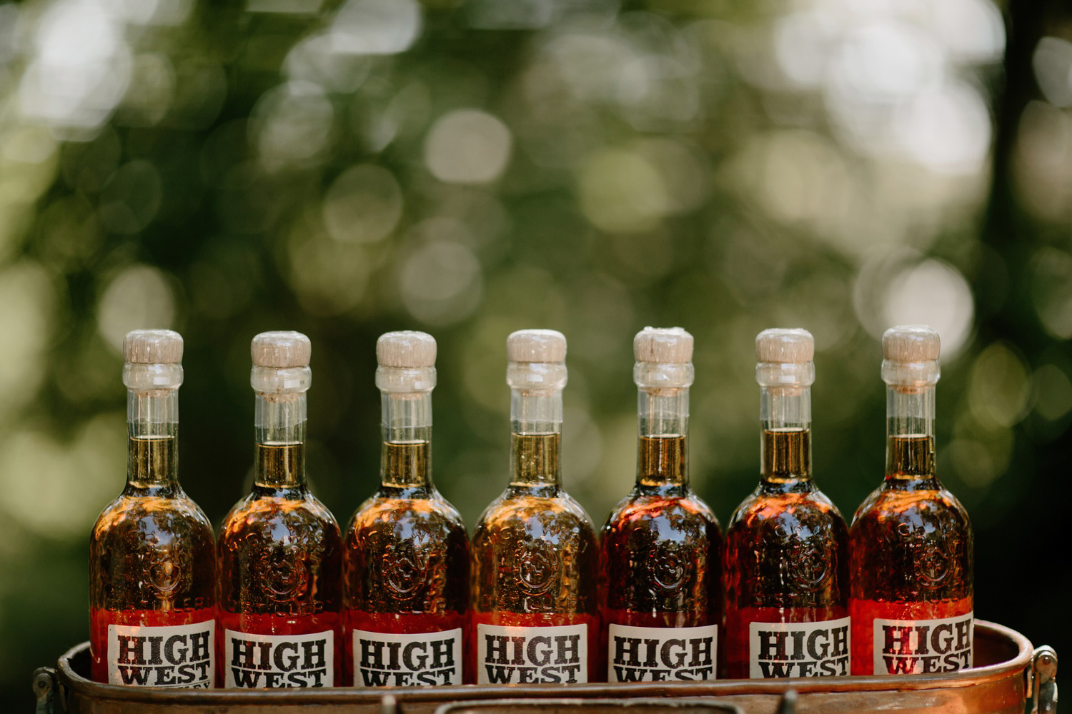 high west whiskey as wedding guest favors
