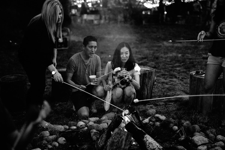 couple roasting marshmellows