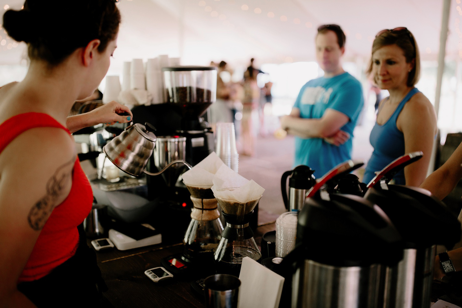 abacus coffee bar at wedding