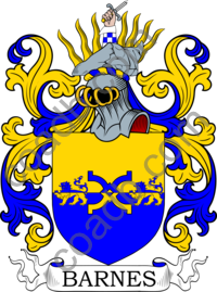 Barnes Family Crest, Coat of Arms and Name History