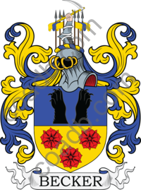 Becker Family Crest, Coat of Arms and Name History