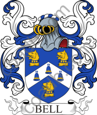 Bell Family Crest, Coat of Arms and Name History