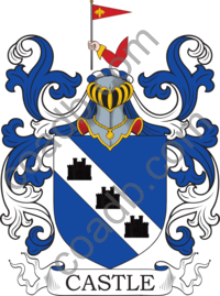Castle Family Crest, Coat of Arms and Name History