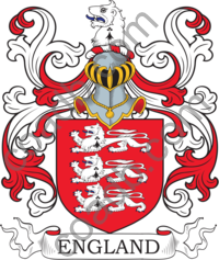 England Family Crest, Coat of Arms and Name History