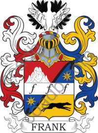 Frank Family Crest, Coat of Arms and Name History