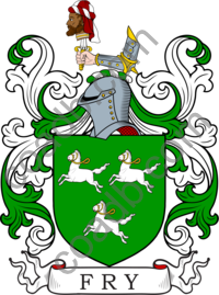 Fry Family Crest, Coat of Arms and Name History