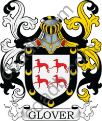 Glover Family Crest, Coat of Arms and Name History