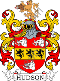 Hudson Family Crest, Coat of Arms and Name History