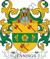 Jennings Family Crest, Coat of Arms and Name History