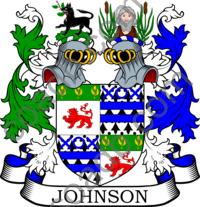 Johnson Family Crest, Coat of Arms and Name History