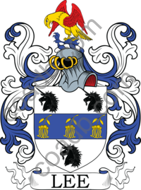 Lee Family Crest, Coat of Arms and Name History