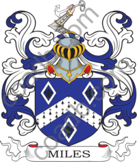Miles Family Crest, Coat of Arms and Name History