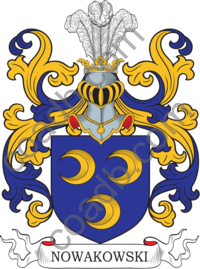 Nowakowski Family Crest, Coat of Arms and Name History