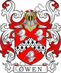 Owen Family Crest, Coat of Arms and Name History