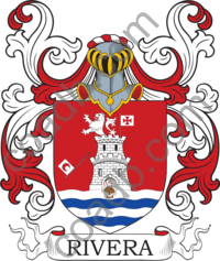 Rivera Family Crest, Coat of Arms and Name History