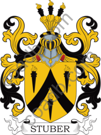 Stuber Family Crest, Coat of Arms and Name History