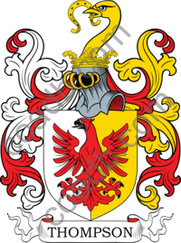 Thompson Family Crest, Coat of Arms and Name History