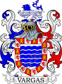 Vargas Family Crest, Coat of Arms and Name History