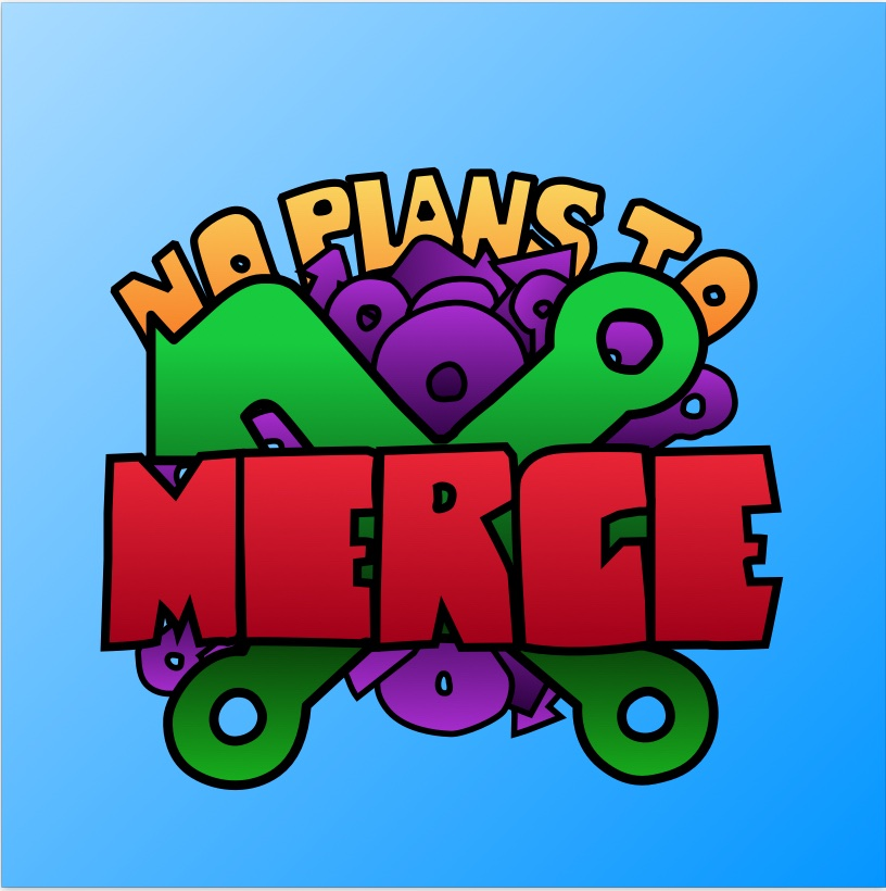 whacky colors illustration logo