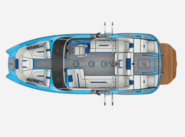 2021 MasterCraft X22 - W/JET STREAM BLUE Image 2