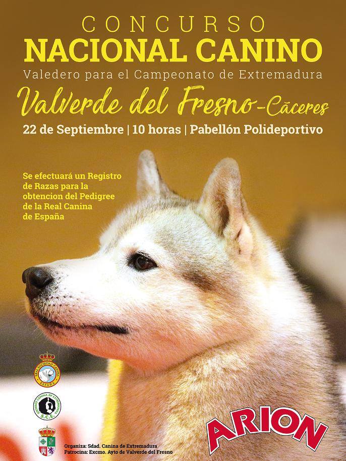 Concurso Nacional Canino Valverde del Fresno (Cáceres)