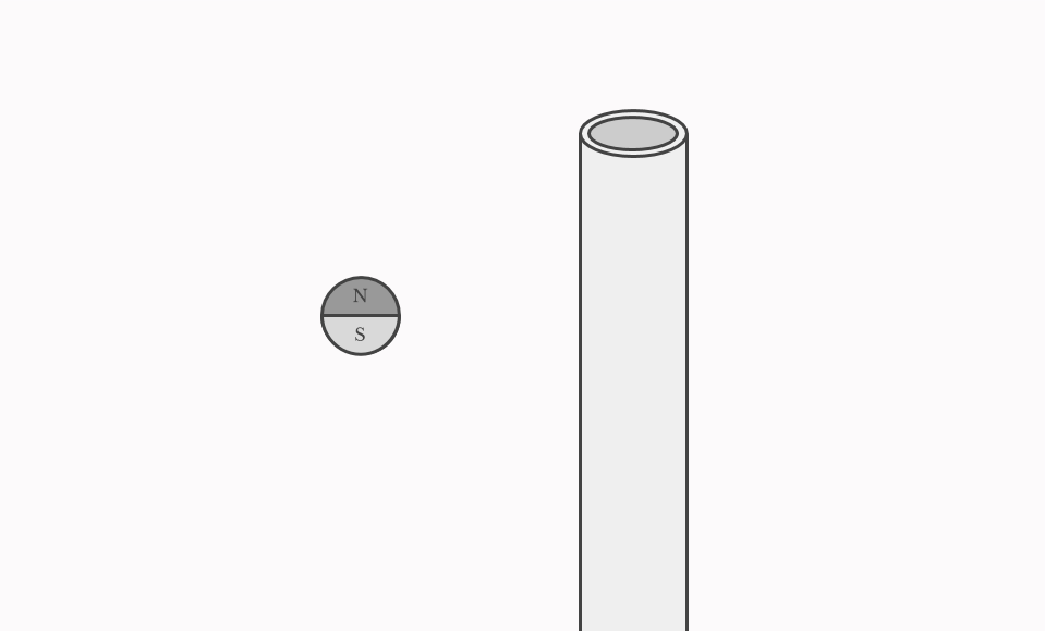 Tube and ball magnet