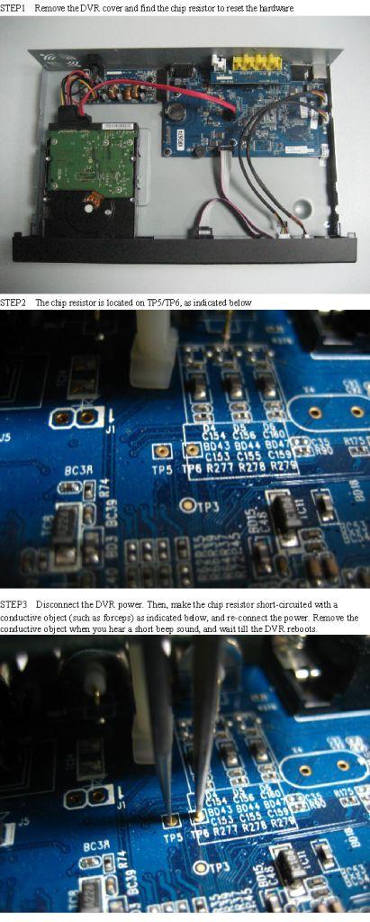 AVTech KPD674 hardware reset ? - Digital Video Recorders