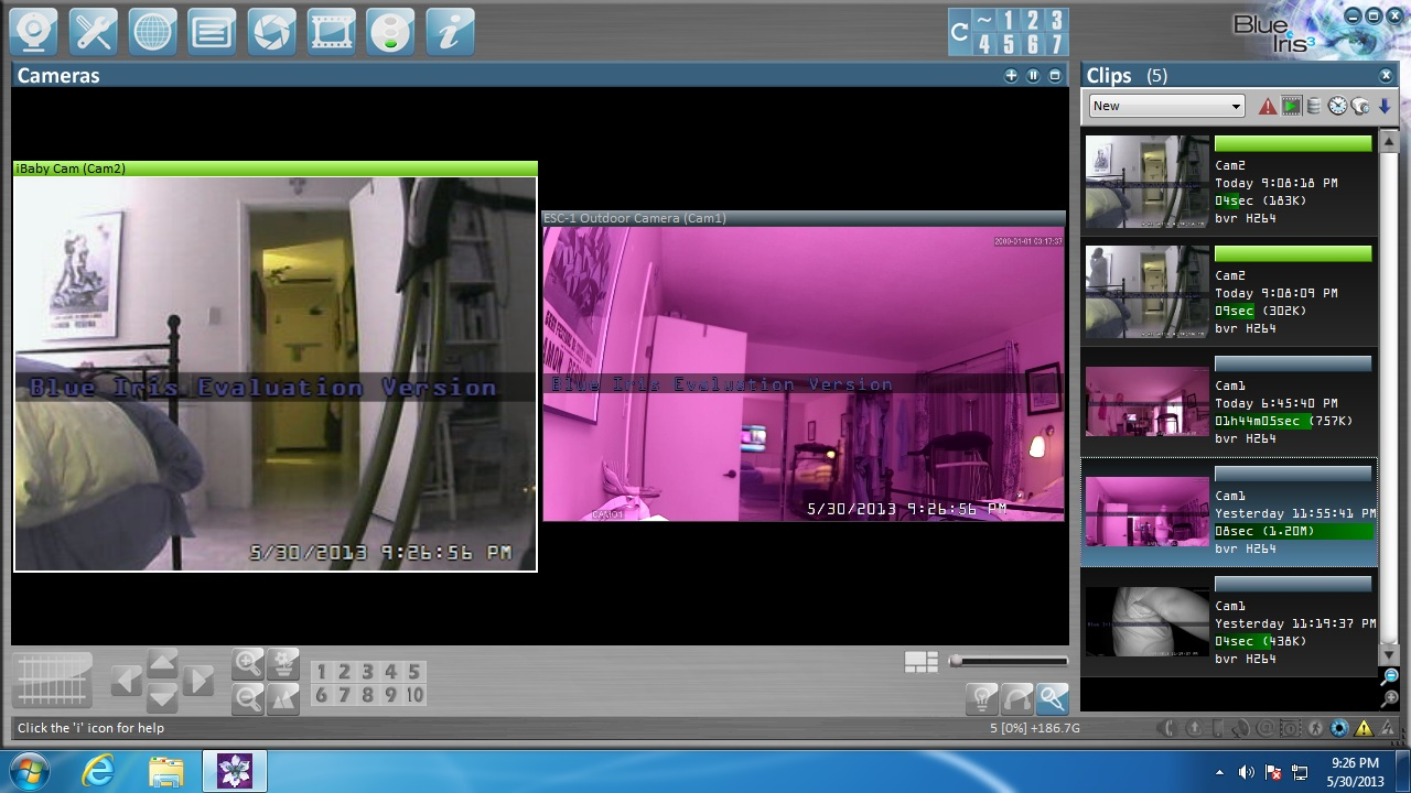 Severe Purple Hue to camera on Swann 7200 system - IP