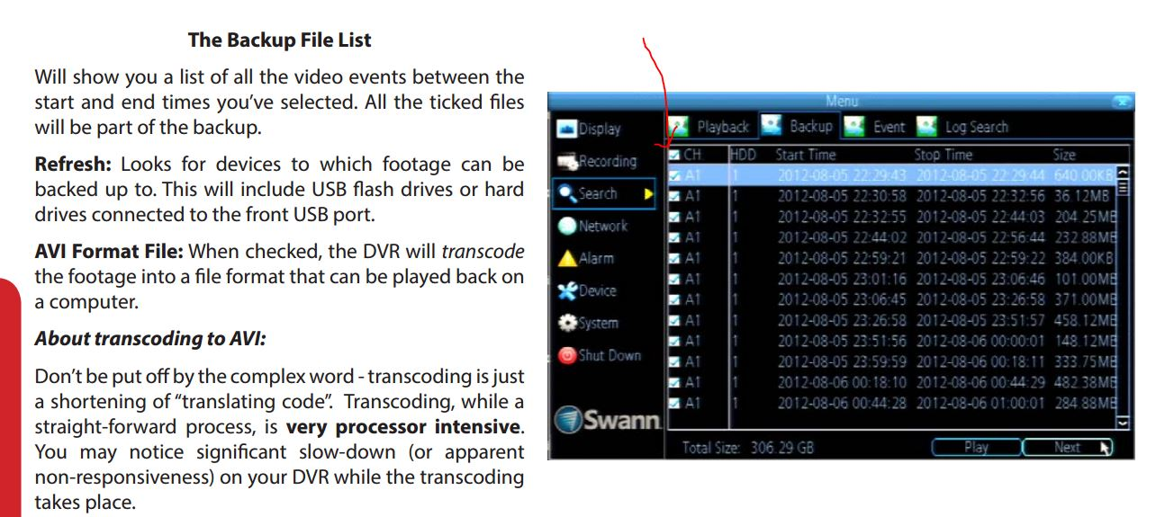 Remote Download Files from Swann DVR (SSH or other?) - Digital Video