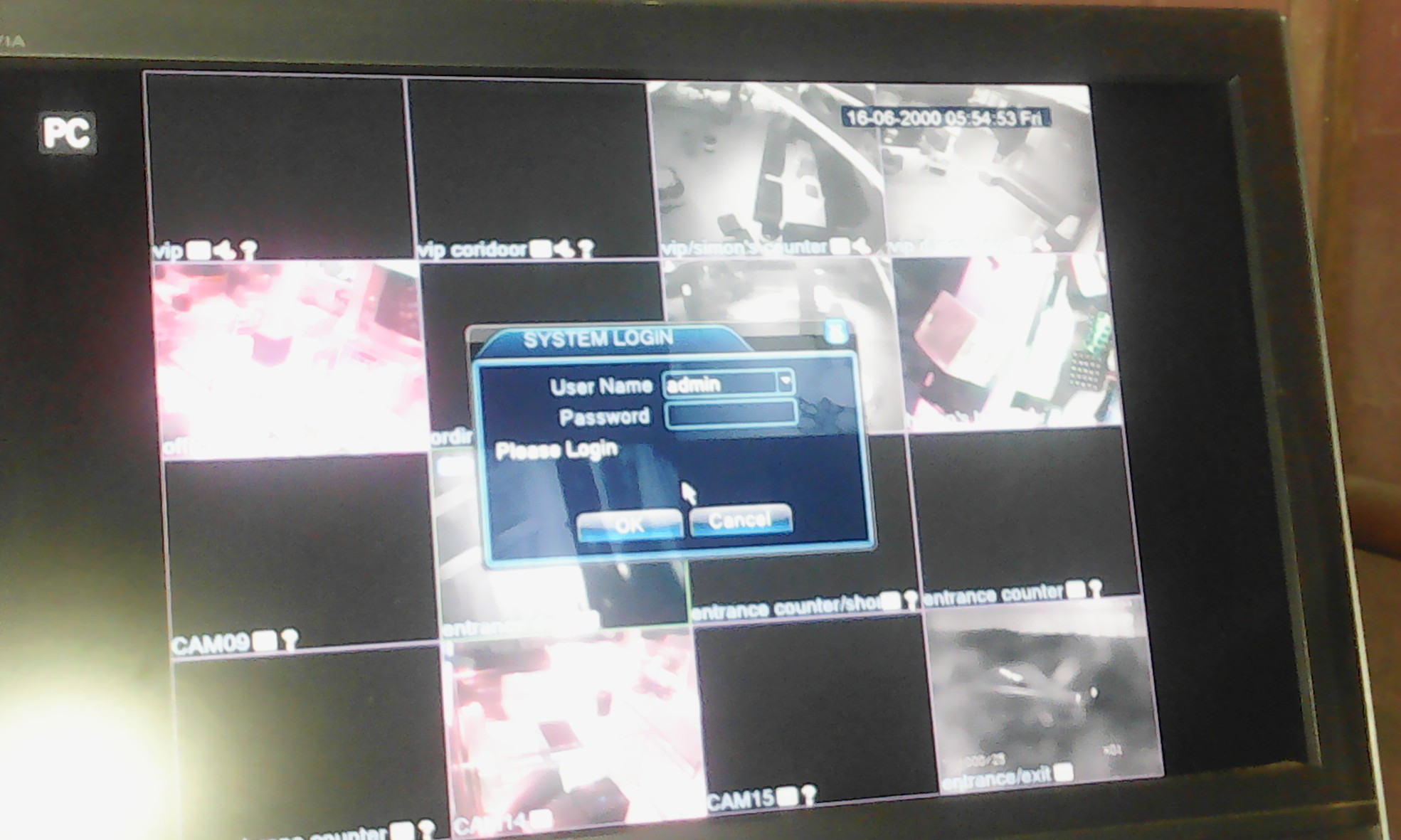 Reset DVR password to Factory default - Digital Video Recorders