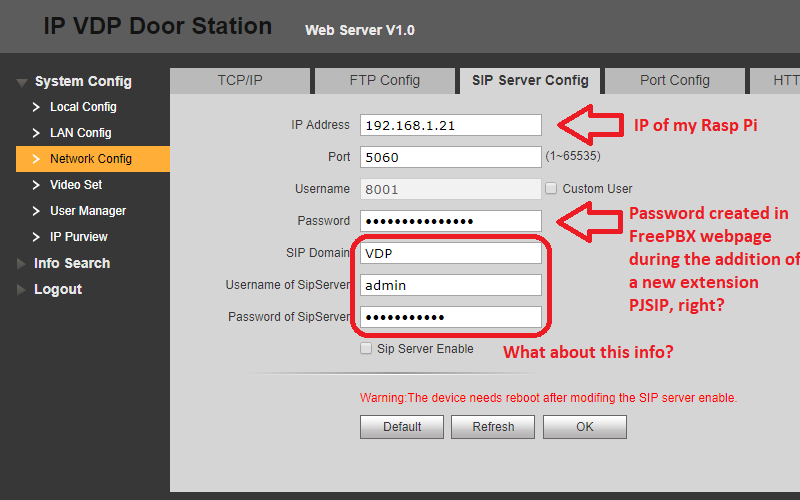 Dahua VTO2000A, SIP Firmware and Asterisk - Page 11 - Installation