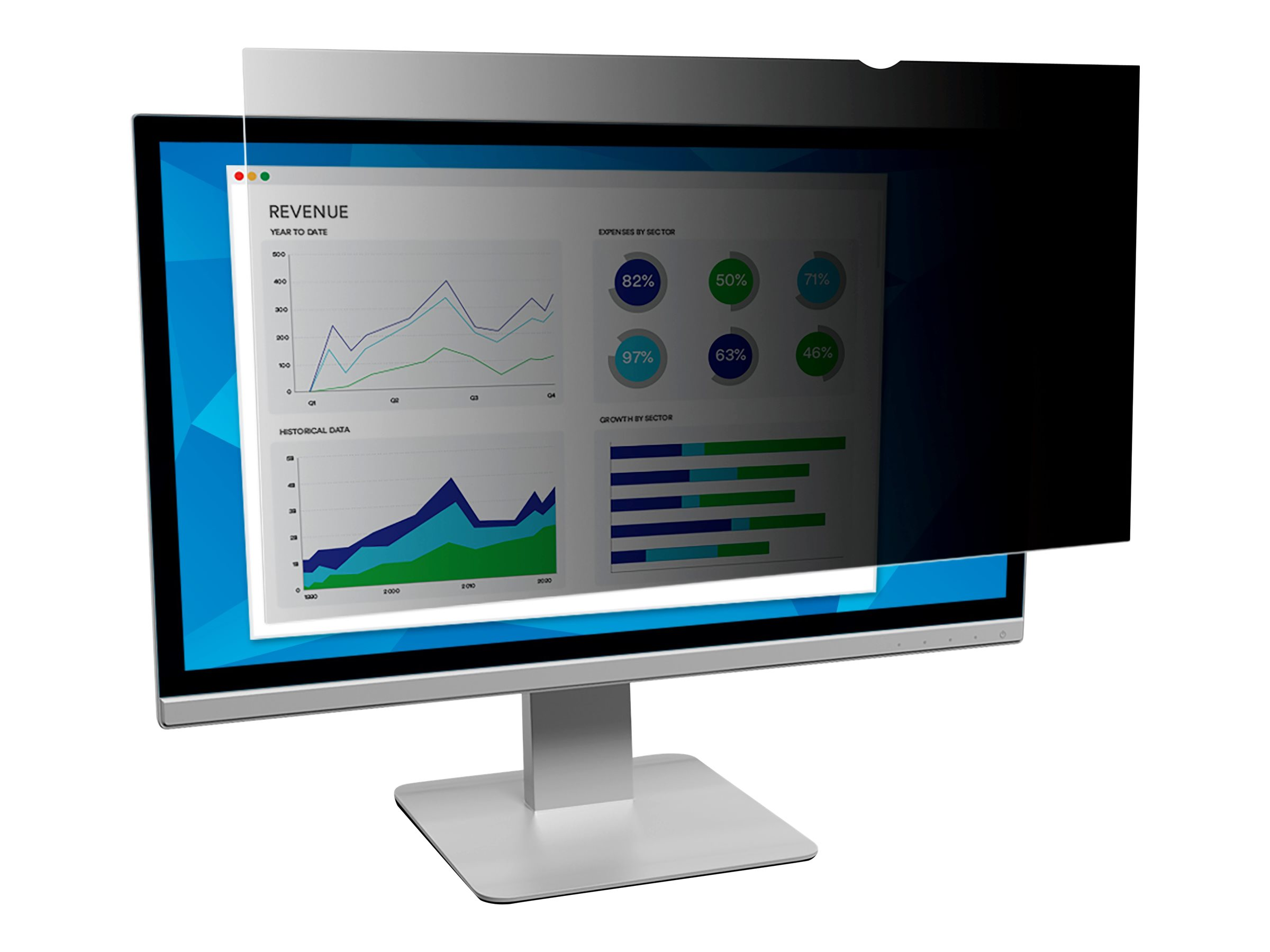 """Image for 3M Privacy Filter For 24"""" Widescreen Monitor - Display Privacy Filter - 24"""" Wide from Circuit City"""