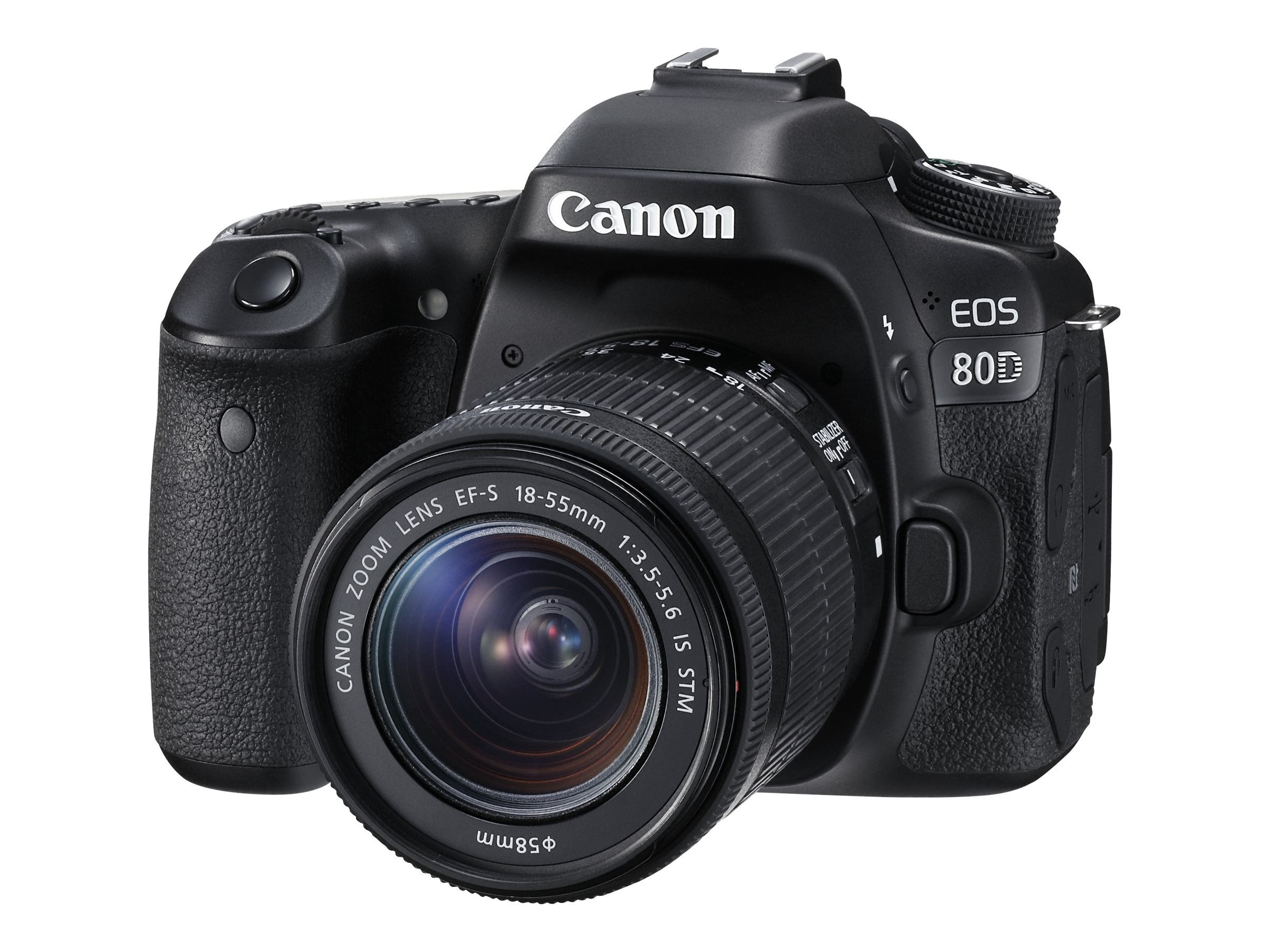 Image for Canon EOS 80D - Digital camera - SLR - 24.2 MP - APS-C - 1080p / 60 fps - 3x optical zoom EF-S 18-55mm IS STM lens - Wi-Fi, NFC from Circuit City