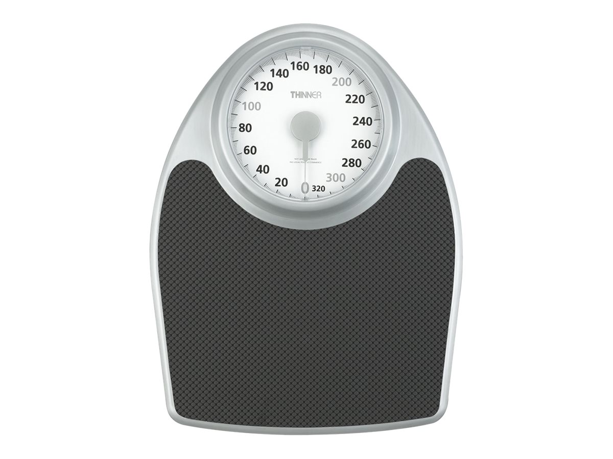 Image for Thinner - Bathroom Scales - Silver/Matt Black from Circuit City