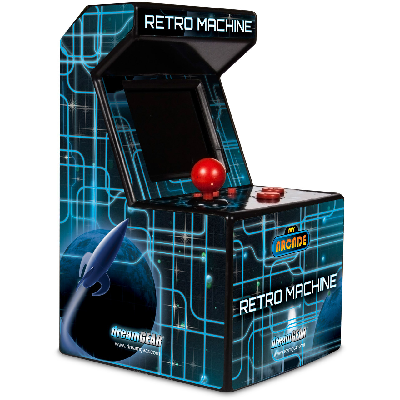 Dreamgear My Arcade Retro Machine 200 Built In Games Handheld Electronic Circuits Image For