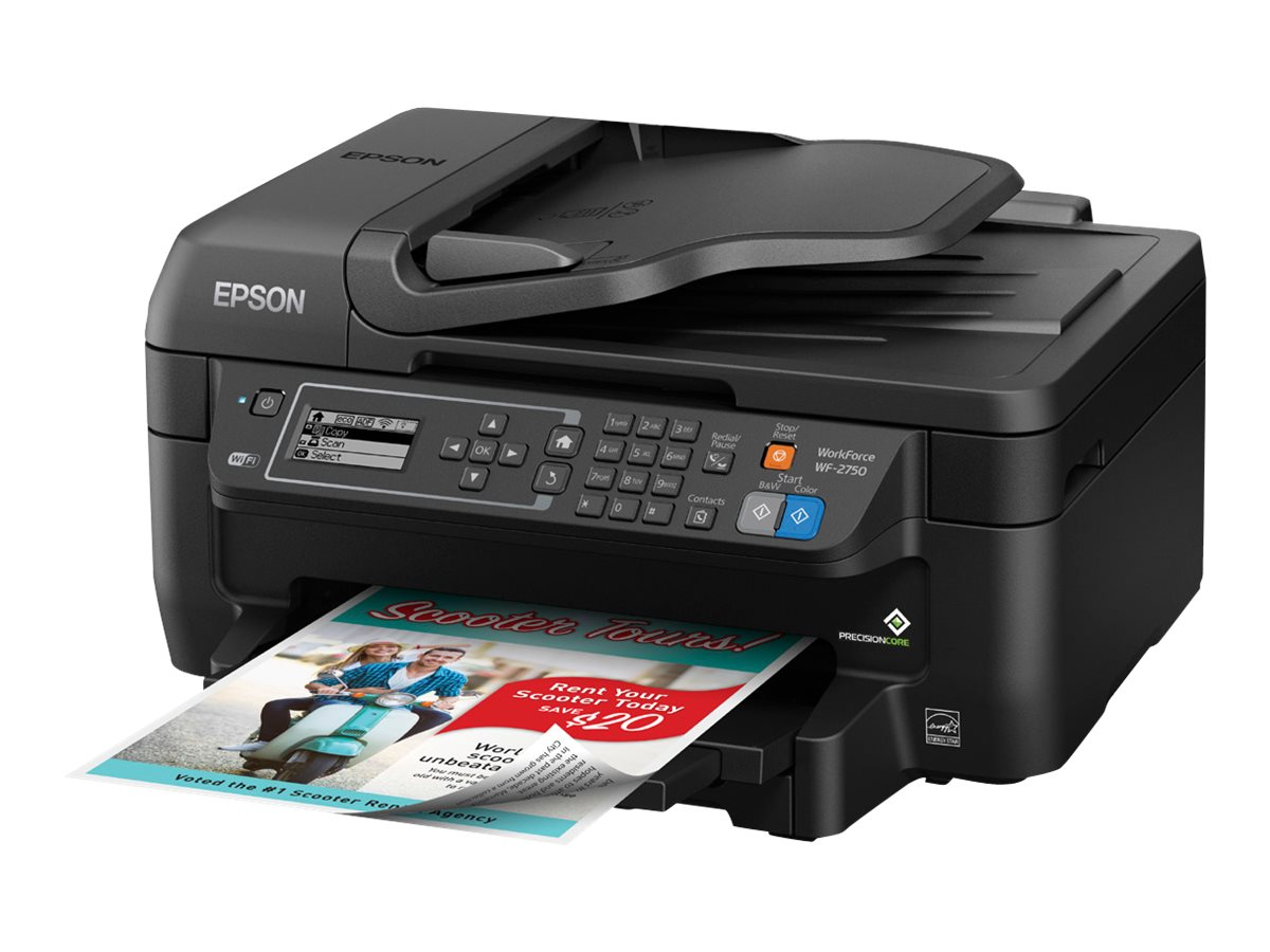 aeb1714dc2f Image for Epson Workforce Wf-2750 - Multifunction Printer (Color) from  Circuit City