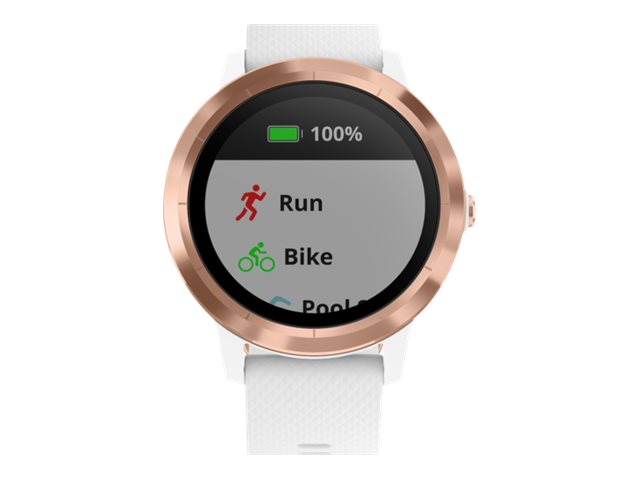 Image for Garmin vïvoactive 3 - rose gold - smart watch with band - white from Circuit City