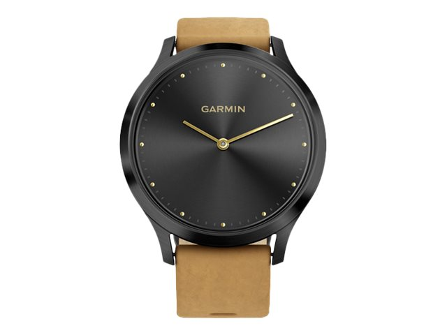 Image for Garmin vïvomove HR Premium - Onyx Black - smart watch with band - tan from Circuit City