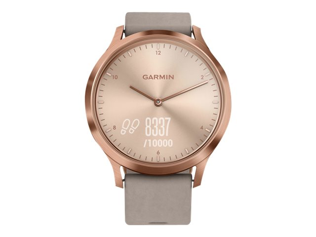 Image for Garmin vïvomove HR Premium - rose gold stainless steel - smart watch with band - gray from Circuit City