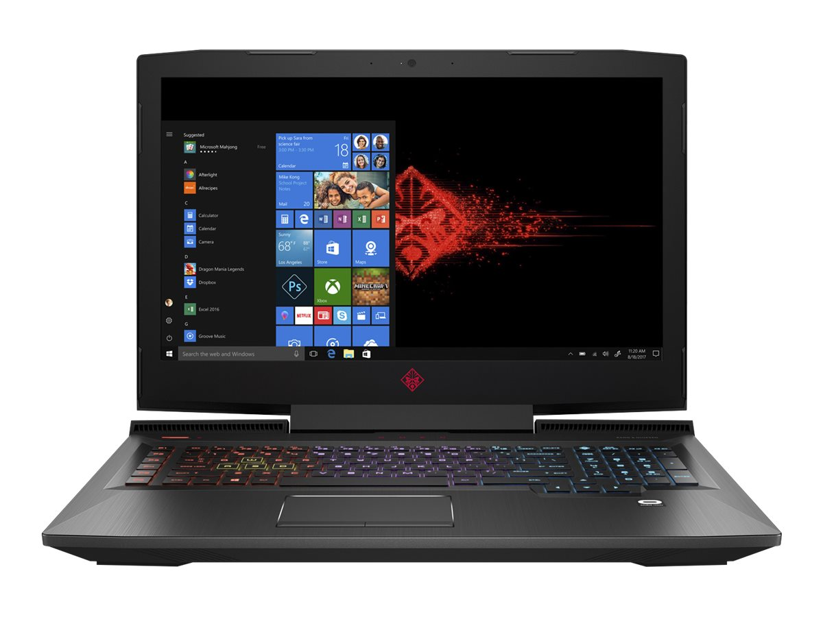 """Image for HP 17-AN110NR - 17.3"""" Laptop - Intel Core i7 - 12GB Memory - NVIDIA GeForce GTX 1050 Ti - 1TB Hard Drive + 128GB SSD from Circuit City"""