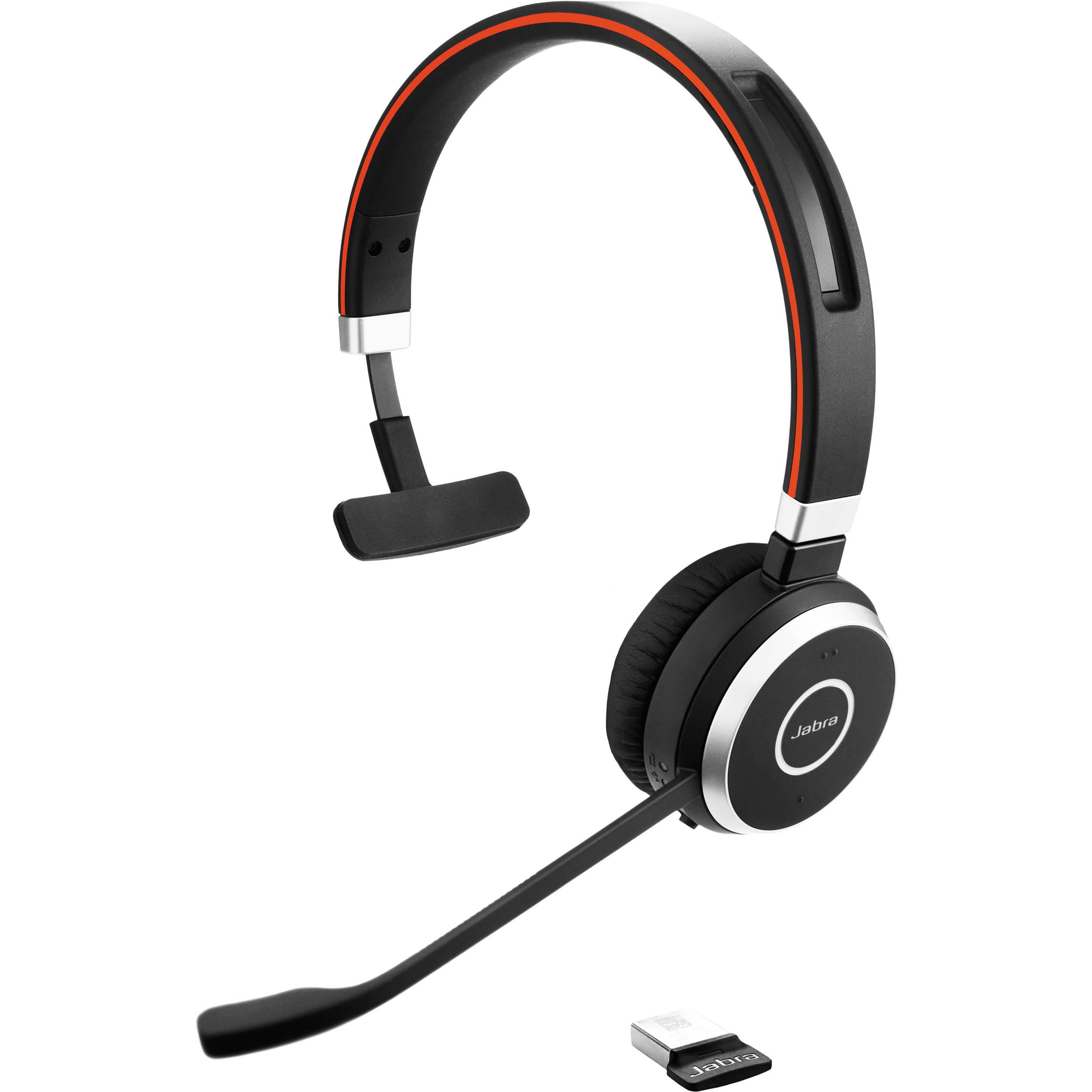 Jabra Evolve 65 UC mono - headset - with Jabra LINK 360 Adapter