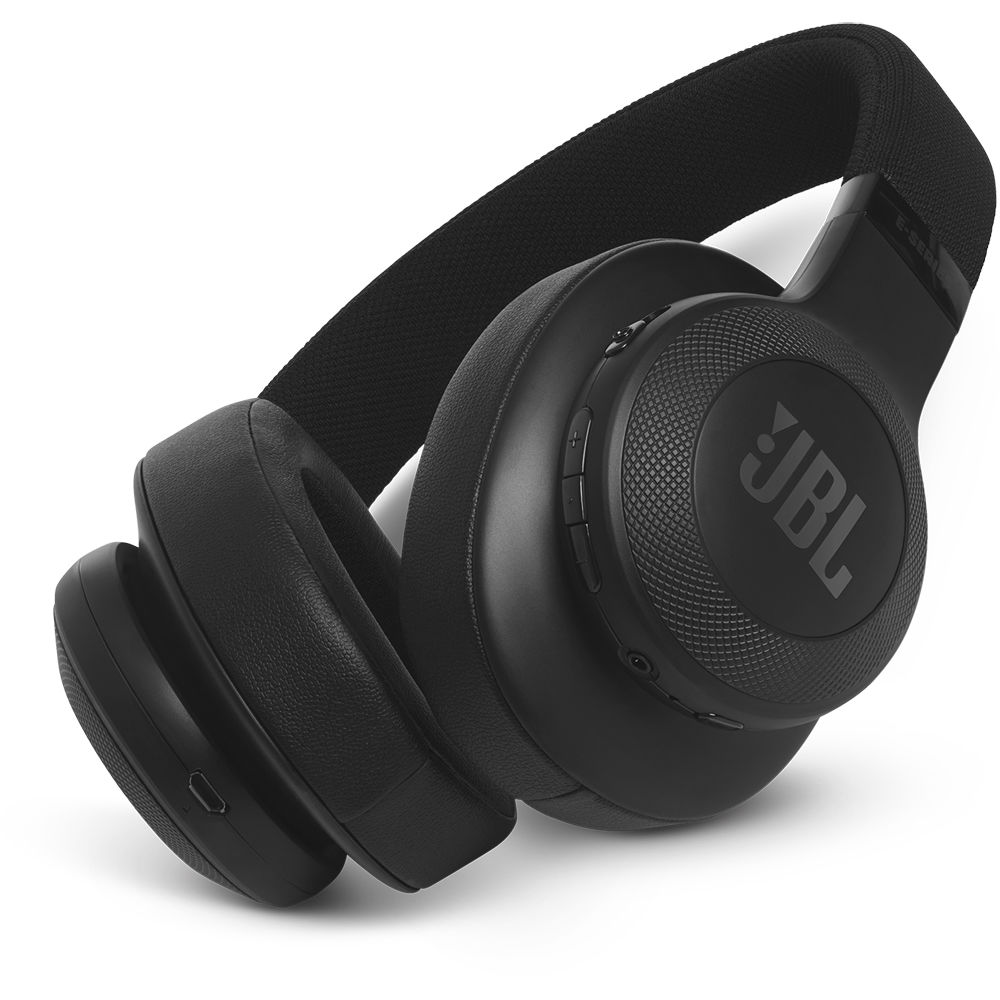 JBL - E55BT Wireless Over-the-Ear Headphones - Black