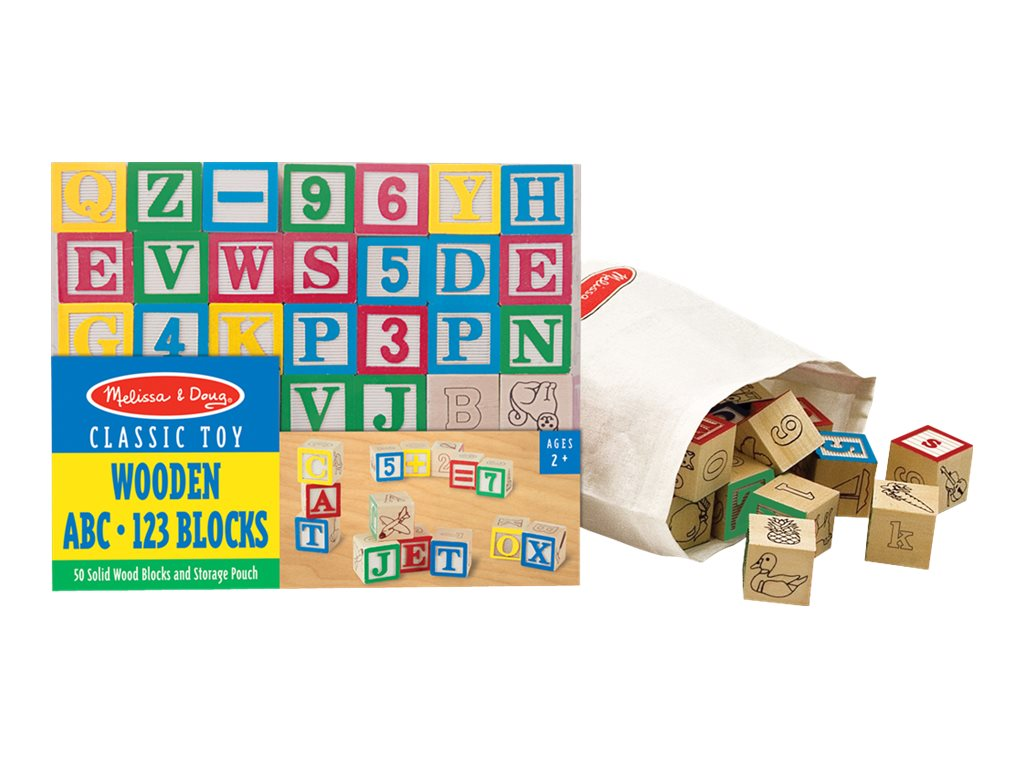 Image for Melissa & Doug - Wooden ABC/123 Blocks - building blocks from Circuit City